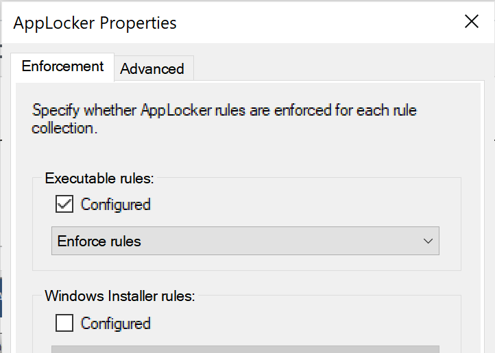 Executable rules