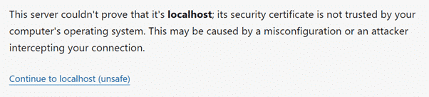 Nessus unsecure