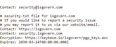 Security.txt file